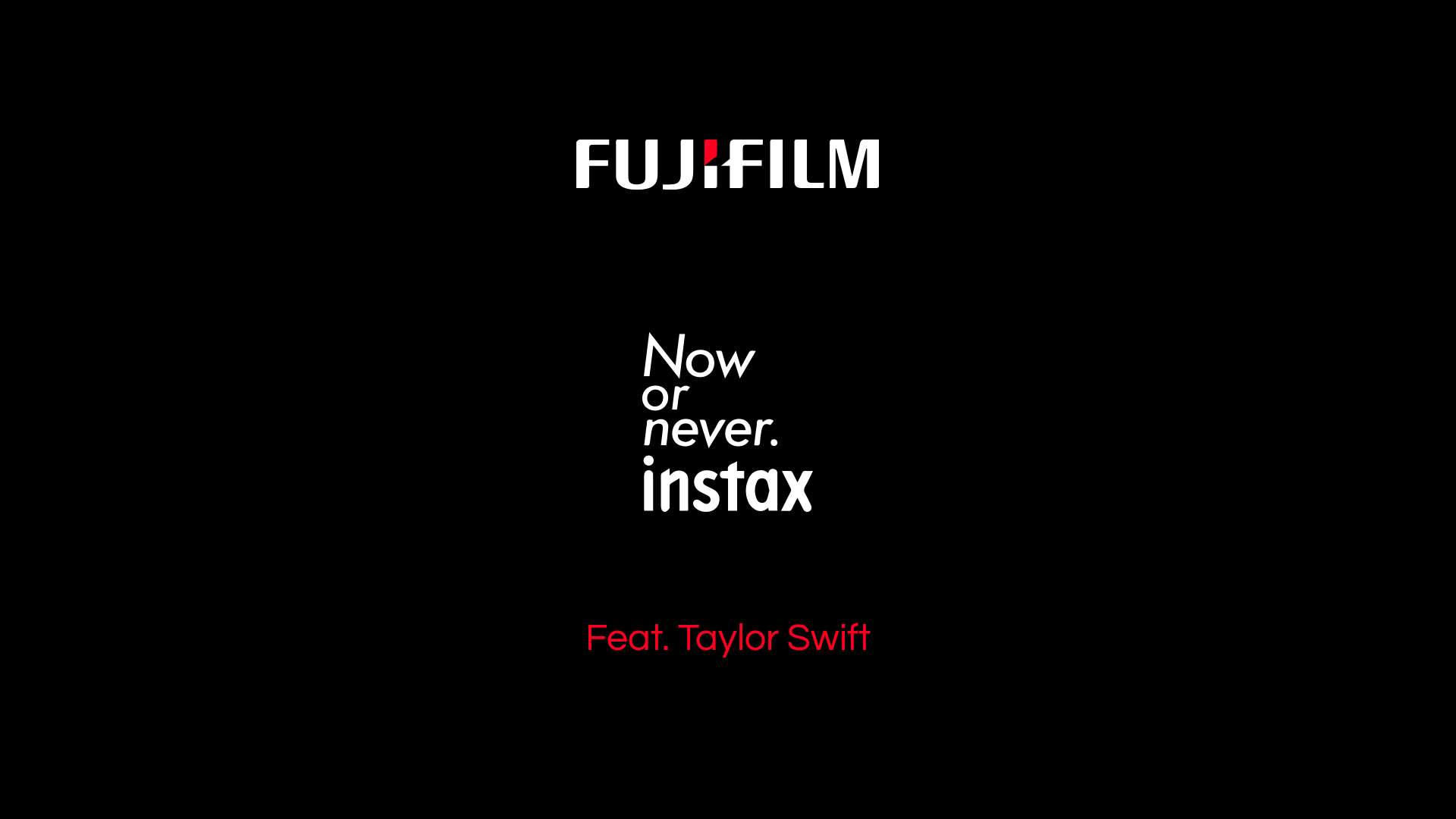 Fuji Film Instax with Taylor Swift